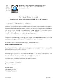 100 Us Visa Invitation Letter Template Sample Cover Letter