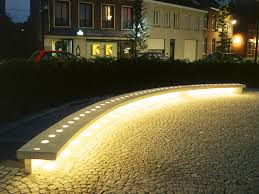 bench lighting. This Bench Is Supplied In Polished Concrete With Transparent Glass Beads Encrusted Into The Seat. Optional Inclusion Of Spotlights Base To Light Lighting P