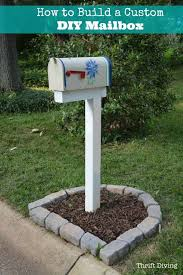 6x6 mailbox post plans Double How To Build Paint And Install Custom Diy Mailbox After Thrift Diving Pinterest How To Build Paint And Install Custom Diy Mailbox