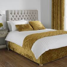 paoletti verona crushed velvet bed wrap ochre super king linens limited