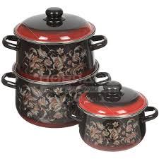 <b>Набор эмалированной посуды</b> СтальЭмаль Драгоценная 1с408 ...