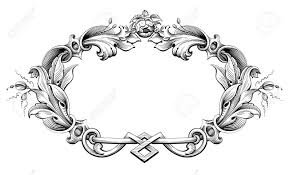 vintage frame tattoo designs. Vector - Vintage Baroque Victorian Frame Border Monogram Floral Ornament Leaf Scroll Engraved Retro Flower Pattern Decorative Design Tattoo Black And White Designs G