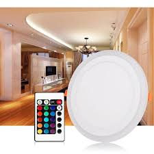 Image Grey Led Downlight Round 6w 24w Model Led Lamp Double Color Panel Light Rgb amp White Ceiling Recessed With Remote Control Kitchen Down Lighting Kitchen Down Dhgatecom Led Downlight Round 6w 24w Model Led Lamp Double Color Panel Light