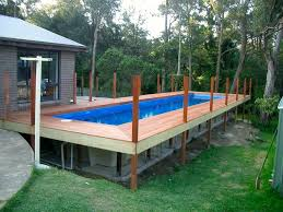 Pool Above Ground Pools With Decks Above Ground Pool In Basement