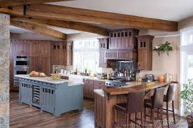 mission style island mission style island craftsman. Beautiful New Arts \u0026 Crafts Period Kitchen By Crown Point Cabinetry. Custom Features Rustic Wooden Ceiling Beams, Handcrafted Cherry Cabinetry In An Mission Style Island Craftsman E