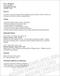 Physical Therapy Resume Examples Best Of Therapist Resume Examples