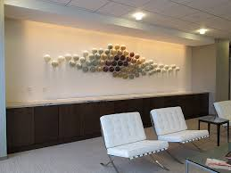 glass wall sculpture installation