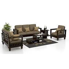 sofaset. Interesting Sofaset FUNTERIOR 321 Italian Wooden Leatherette Sofa Set Classic Grey And Sofaset H