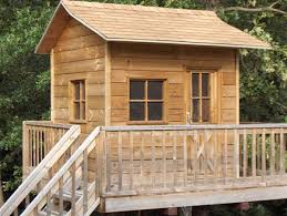 Tree House Plans to Build for Your KidsView in gallery Treehouse made from salt treated lumber