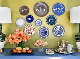 astounding dining room decoration with decorative plates to hang on wall