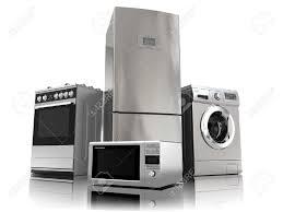 Gas Kitchen Appliances Home Appliances Set Of Household Kitchen Technics Isolated On