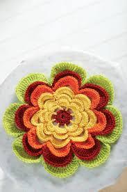 Crochet Decoration Patterns Frilly Crochet Flower Decoration Crochet Pattern Ruth Mills