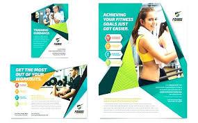 Training Flyer Templates Free Fitness Training Fold Brochure Template Free Interestor Co