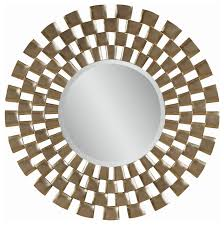 checd round wall mirror
