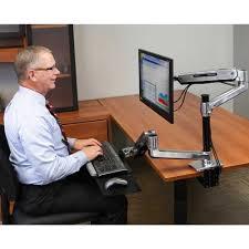 ergotron workfit lx sit stand desk mount system sitting