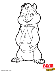 Free Alvin Coloring Printable Perfect For