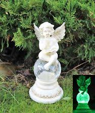 garden angel statues. Solar Powered Fairy Angel Cherub Garden Resin Ornament Figurine Statue Statues