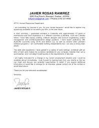 Cover Letter Javier Rosas