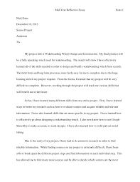 midyear reflective essay