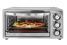 thoughtfully constructed the toaster oven sports a tempered glass door that makes it possible to keep an eye on cooking food without letting heat escape by