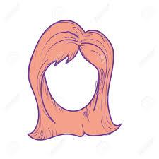 髪型ベクトル イラストとかわいい女性の顔のイラスト素材ベクタ