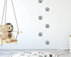 lion paw prints vinyl decals animal footprints tigar cat foot print stickers decorations boys wall decor baby nursery kids room