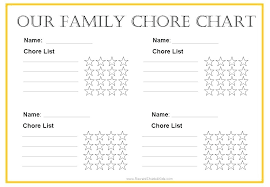 66 Disclosed Downloadable Chore Chart Template