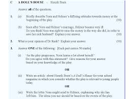 a doll s house essay question essay leaving certificate english text a dolls house 2017 only studyclix