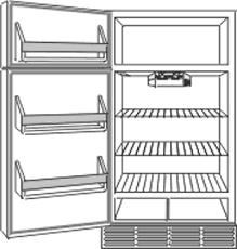 refrigerator inside parts. refrigerator inside parts