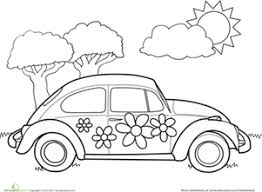 Small Picture VW Bug Coloring Page Worksheets Adult coloring and Coloring books