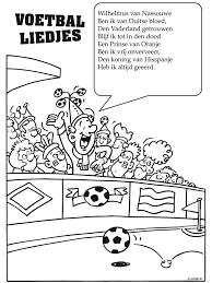 Kleurplaat Wk Voetbal Liedjes Kleurplatennl