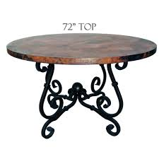 Copper Top Kitchen Table French Dining Table 72in Diameter Copper Top Timeless Wrought