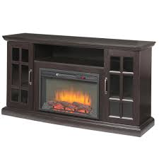 home decorators collection edenfield 59 in freestanding infrared electric fireplace tv stand in espresso