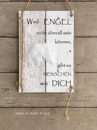 Weil Engelmit Kl Engelflügel Vintage Spruchtextschild