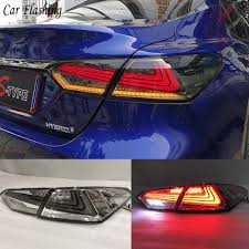 2017 Toyota Camry Led Fog Lights Us 335 0 33 Off Car Flashing 2pcs Led Rear Light Fog Lamp For Toyota Camry 2017 2018 Rs Type Tail Lights Case Taillight Drl Brake Signal Stop In Car