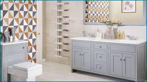 wood finish vanity unit