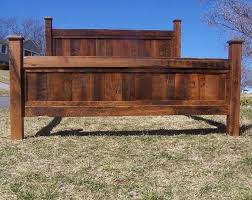 Buy a Hand Made King Size Bed Frame Made From Reclaimed Oak, made to ...