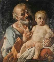 saint joseph and the child oil painting francesco de mura