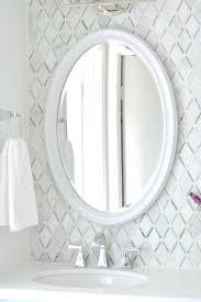 oval vanity mirror led height with decor 2