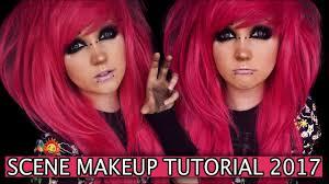 scene emo makeup hair tutorial black smokey cat eye 2017