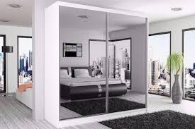 30 off berlin full mirror sliding door wardrobe in white and black colour