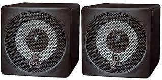 speakers for tv. pyle home pcb3bk 3-inch 100-watt mini cube bookshelf speakers - pair (black) (pair) for tv