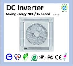 light weight design ceiling box fan for tya 04 d