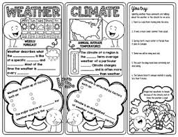 Weather Vs Climate Chart Weather Versus Climate Doodle Notes Science Doodle Notes