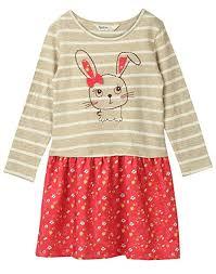 Beebay Size Chart Beebay Girls Top 100 Cotton Skirt 100 Polyester Rabbit Applique Dress Red