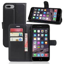book style pu leather case cover for apple iphone 7 plus flip wallet phone bags cases