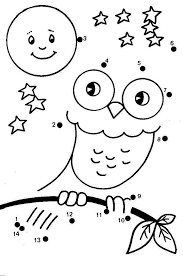 Connecting dots will learn your kid to hold pencils correctly, and will receive the first skills of drawing. Dot To Dot Coloring Pages Kindergarten Coloring Pages Kindergarten Colors Owl Coloring Pages