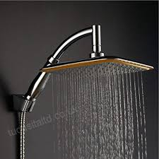 ke1aip 360 swivel joint 9 inch square rainfall overhead shower head ionic filtration high pressure