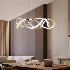 chrome curved led chandelier multi tiered aluminum 33 83 152w accent ultra thin chaos