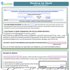 Sample Notice To Quit Letter How To Make Invoices In Word